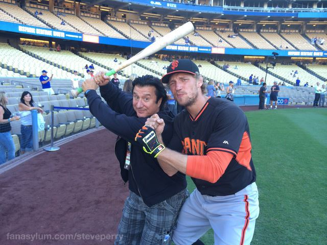 Steve Perry and Hunter Pence 9/24/14