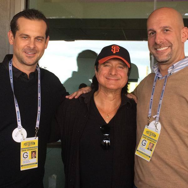 October 16, 2014 - Steve with Dan Sculman and Aaron Boone from ESPN