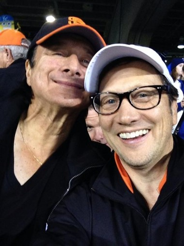 October 29, 2014 - Steve Perry with actor Rob Schneider