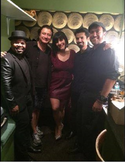 Carey Frank (Pianist & Composer), Steve Perry, Aubrey Logan and Friend