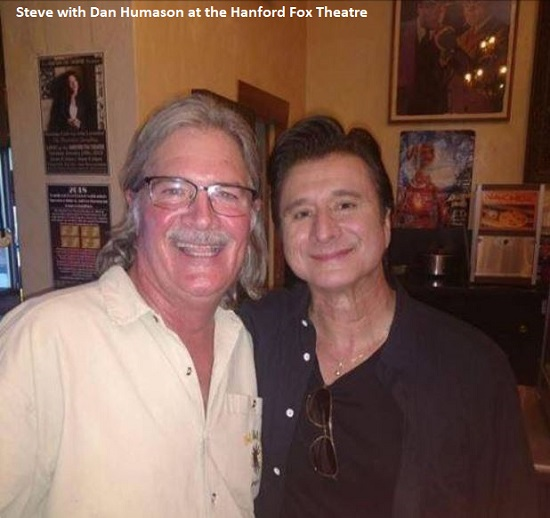 Steve with Dan Humason at the Hanford Fox Theatre