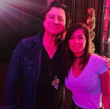 August 23, 2019 @ The Rolling Stones concert, posing with a fan